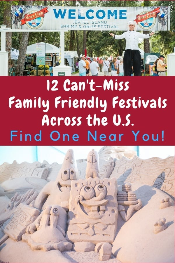 12 kid-friendly festivals in the u. S. They celebrate food, music, arts, crafts, christmas and more. They are ideal ideas for mini family vacations. #festivals #us #travelideas #familyvacations #kidfriendly
