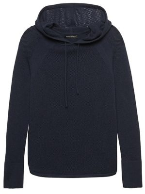 A hoody like this cozy one from banana republic will keep youcozy on vacation and is an absolute travel essential for women