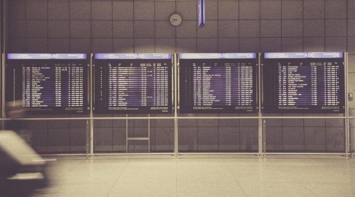 Even during the holidays some travel days are busier than others. Keep your eye on the departure boards.