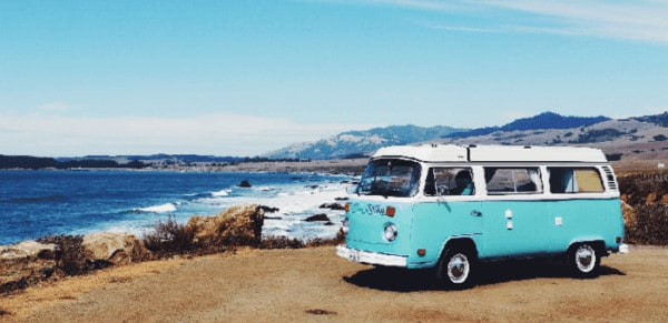 Yes, you can travel in a vw van while pregnant.