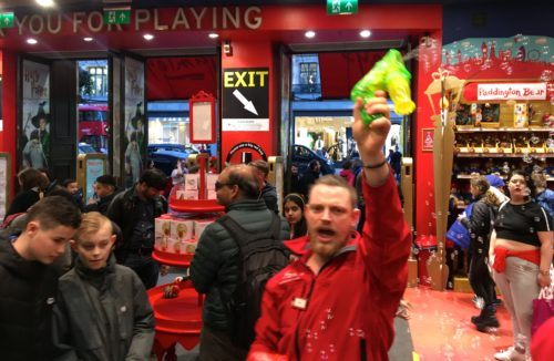The madness of hamley's toy store on a school break