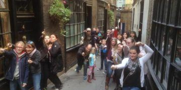 Casting spells in diagon alley on the muggles tour of london