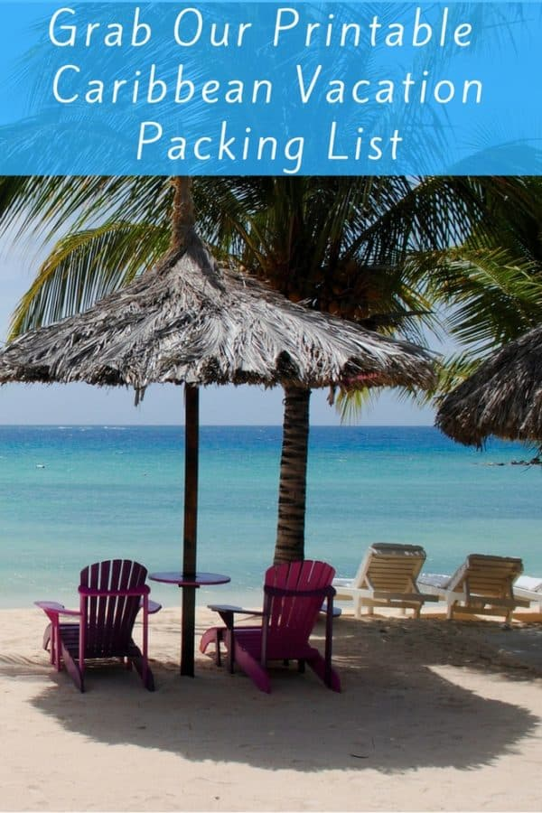 Here is our easy, printable packing list for your next caribbean island vacation with kids. It makes planning easy so you can start to relax even before you arrive at your beach destination. #caribbean #packinglist #planning #beach #vacation #kids