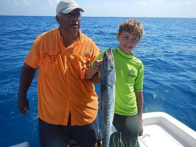 Tweens and teens go sport fishing off grand bahama island