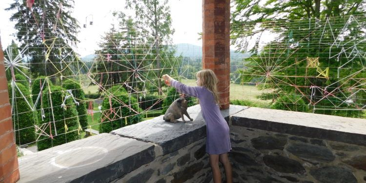 spinning Charlotte's Web at Naumkeag