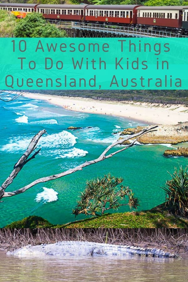 Here are 10 things to do with kids in queensland australia from cairns and the great barrier reef to brisbane, beaches, national parks and more. #queensland #australia #kids #vacation