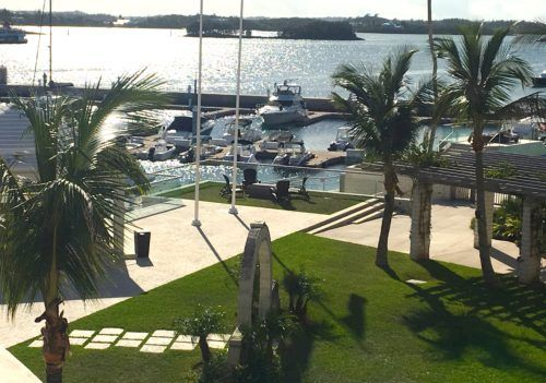 The harbor at the princess resort in hamilton, bermuda