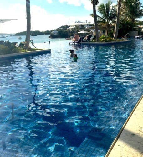The infinity pool at bermuda's princess resort is more child-friendly than you might expect.