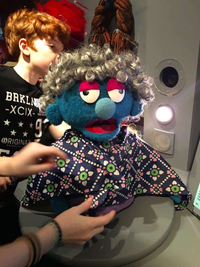 a made-up muppet at the museum of the moving image
