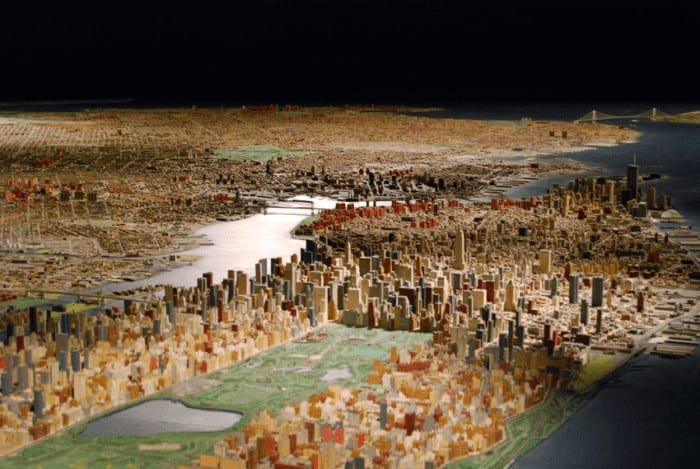 the scale model of NYC at the queens museum