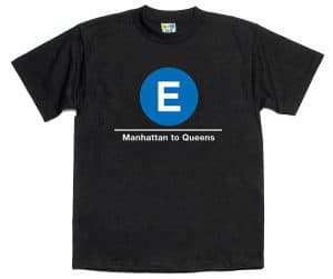 subway T-shirts are a great NYC souvenir