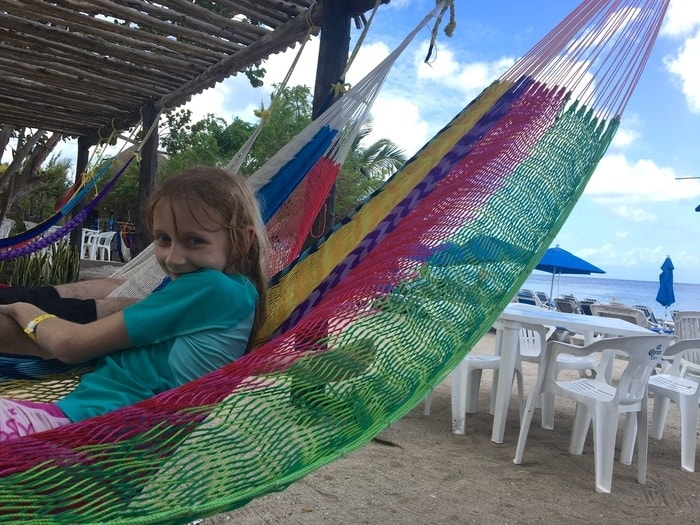 Having fun in the hammocks at playa uvas