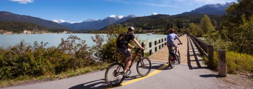 Rent bikes and follow trails all over whistler village and beyond
