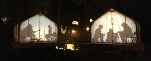 Vallea lumina begins in a campsite
