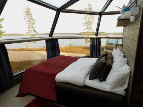 see the aurora borealis from bed in these Finland igloos.
