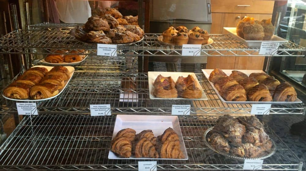 Croissants and pastries from reunion patisserie