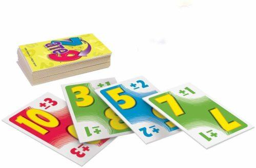 7 ate 9 is a variation on uno that uses arithmetic skills