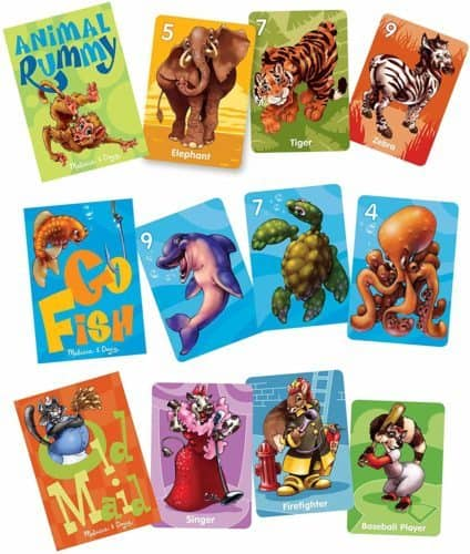 3 classic card games from melissaq & doug
