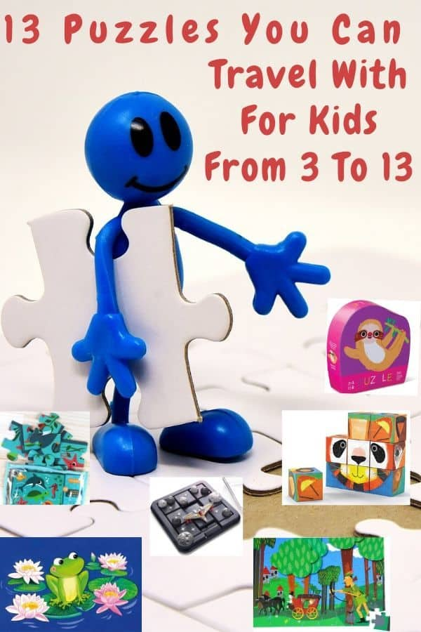13 puzzles that kids from preschooler to tween will love doing at home or on the road. We include puzzle picks from some of the best toy companies out there. #giftguide #giftideas #kids #tweens #preschoolers #puzzles #traveltoys