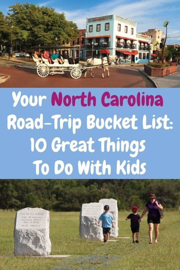 If you're driving through, around or to north carolina, be sure to bring along this kid-friendly list of 10 fun and unique things to do. #northcarolina #roadtrip #bucketlist #ideas #kids #vacation