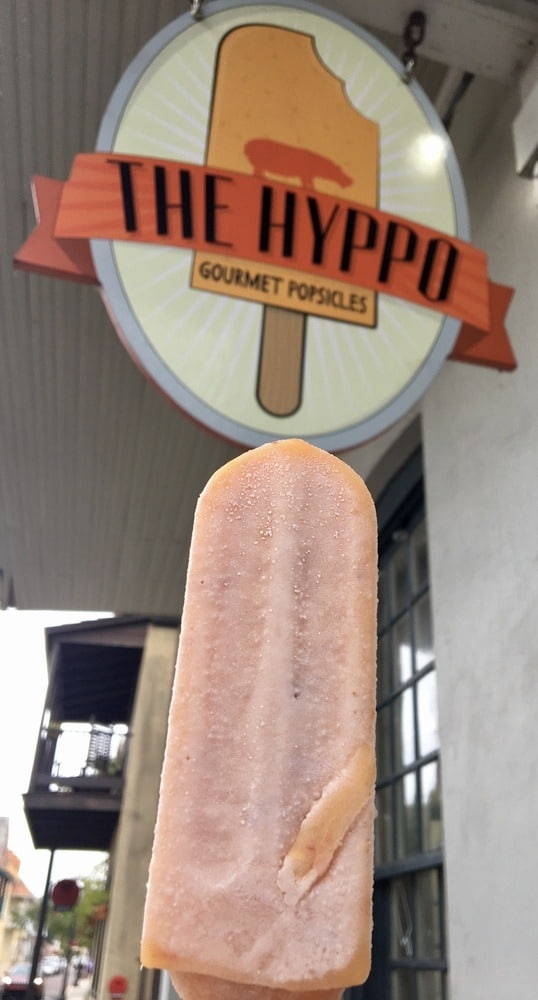 A peach ice pop from hyppo pops