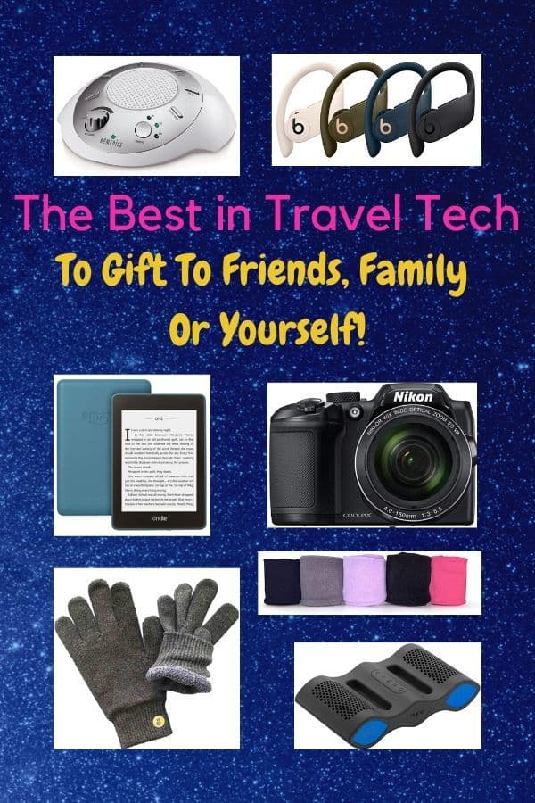 From digital cameras to portable espresso makers we round up 22 high-tech gadgets that will make traveling easier with kids of any age #gifts #ideas #tech #gear #travel #gadgets #vacation #portable #kids #moms #dads
