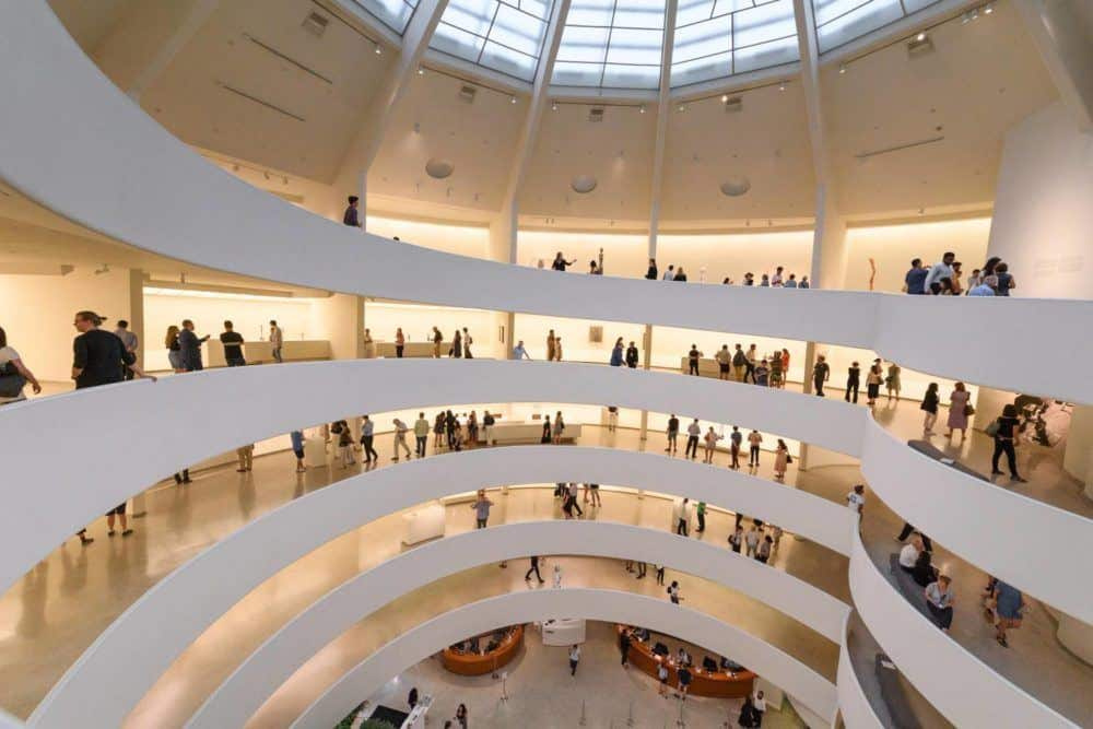 The inside of the spiraling guggenheim is as interesting as the art it features.