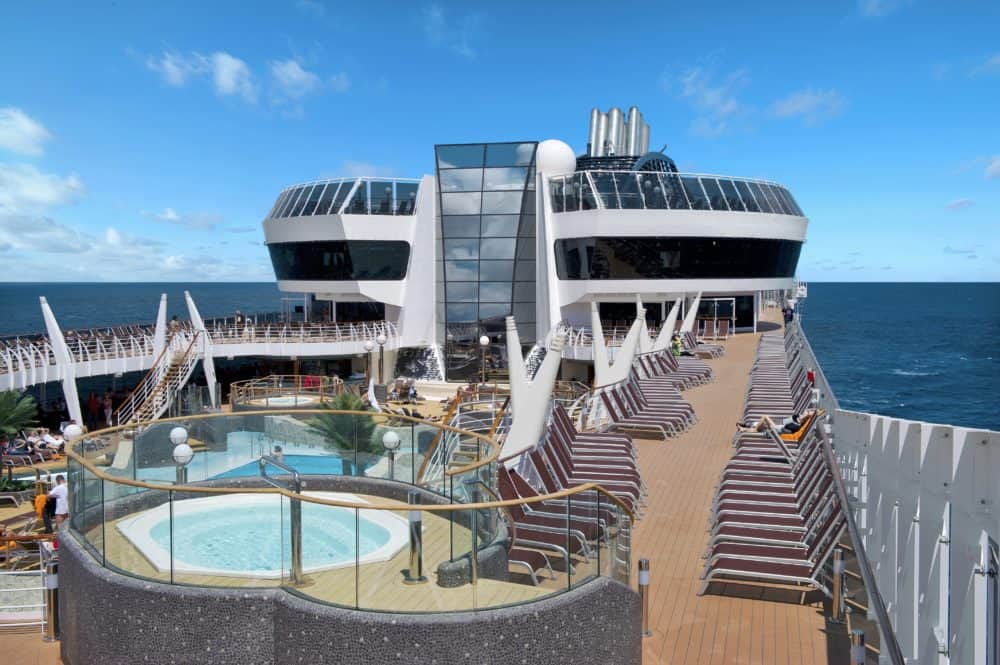 The msc divina has multiple pools and several hot tubs.