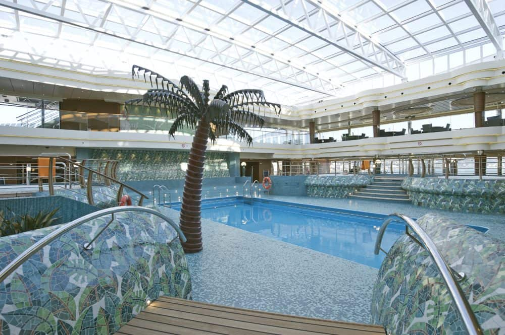 The indoor pool on the msc divina