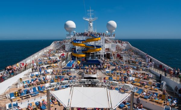 On a mega-ship with 4,000 passengers there are always people everywhere.