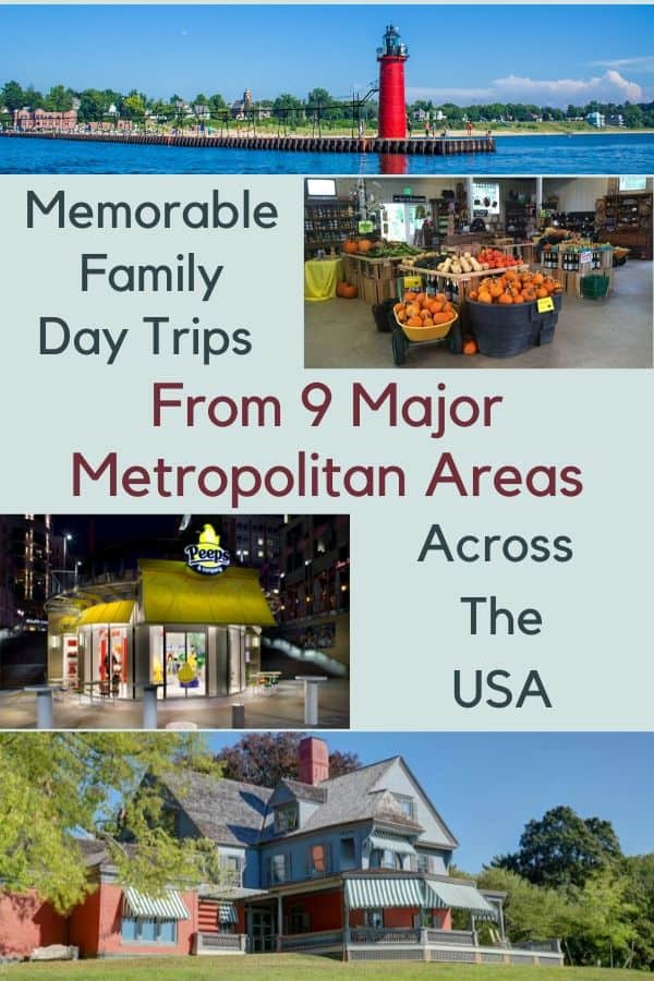9 summer day trips for families from 12 major metro areas across the u. S. Thngs to do, where to eat, how to stay overnight. #us #travelideas #daytrip #ideas #staycation #local #vacation #kids #family