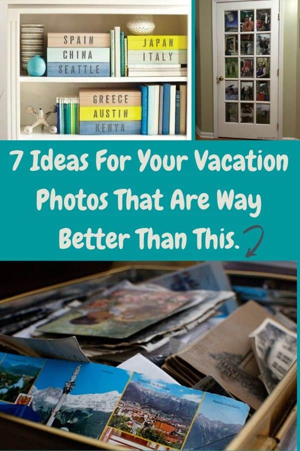 Relive your favorite family vacations by using these quick and easy ideas for storing photos or turning them into crafts to have around the house. #photos #diy #crafts #family #vacationphotos #photostorage #photocrafts