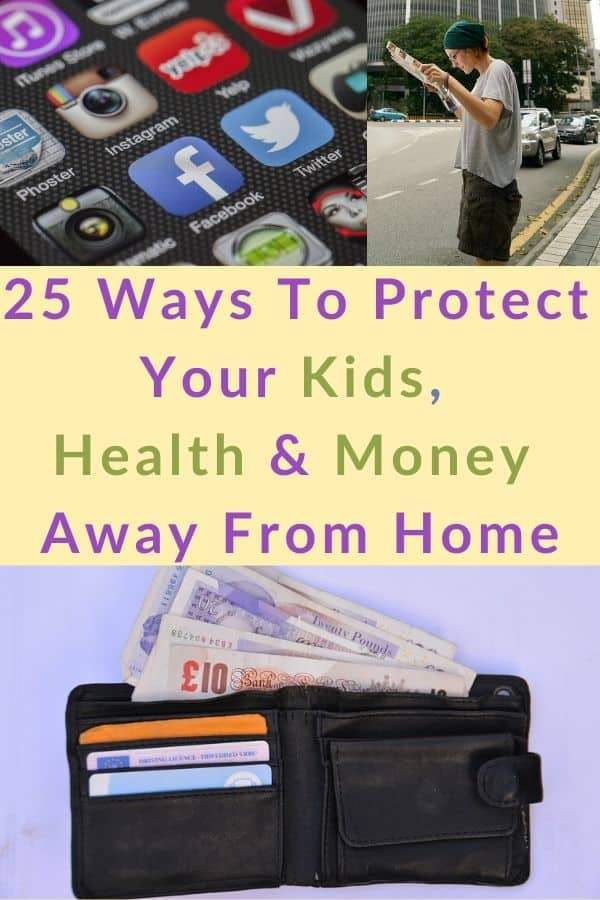 25 expert tips for protecting your safety, money, health and kids when you're traveling. Vacation safety tips. #travel #vacation #safety #healthy #tips #insurance #cdc #statedepartment #covid19
