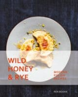 Pierogies on the cover of wild honey & rye.