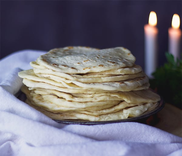 Homemade tortillas are thicker and chewier than store-bought ones.