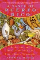 The colorful cover of a taste of puerto rico.