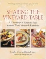 Sharing the vineyard table is a collection of california wine country recipes with wine pairings by a member of the wente family.