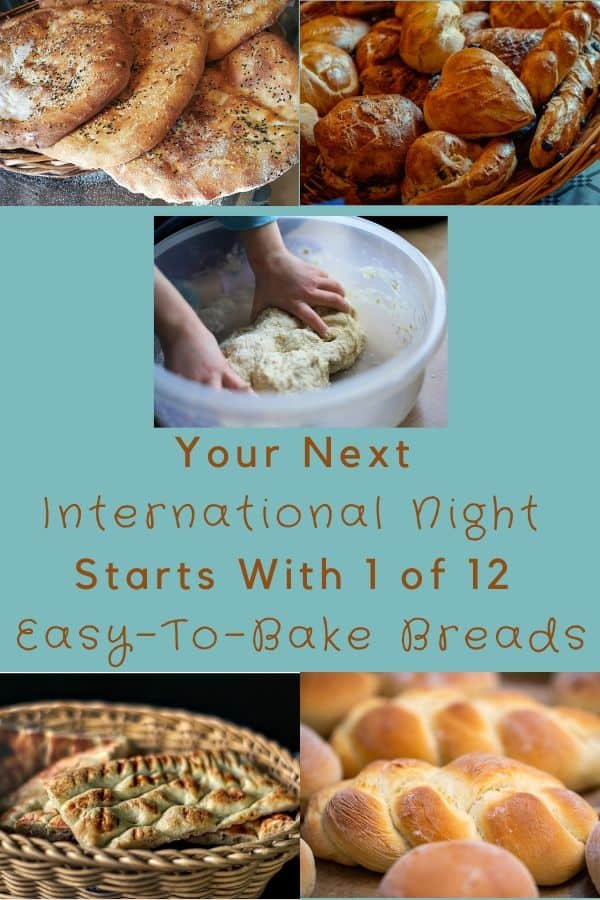 These easy bread recipes will transport your family around the world for a staycation, world schooling or international night adventure. #bread #recipes #international #inspiration #staycation #worldasschool