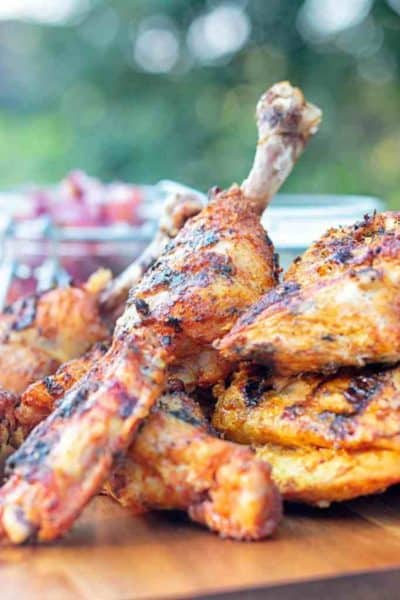 A grill can duplicate some of the clay oven flavors that make tandoori chicken so good.