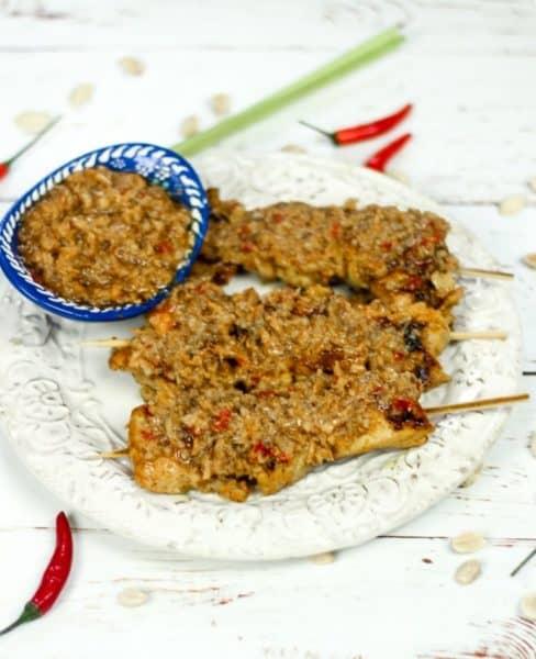 chicken satay from malaysia is different from its Thai counterpart.