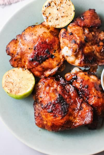 hawaiian BBQ chicken is sweet and tangy.