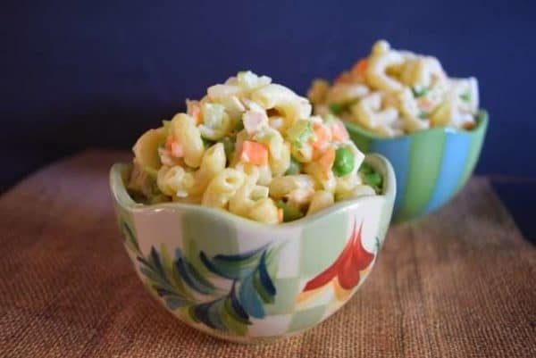 hawaiian macaroni salad turns any barbecue into a plate lunch.