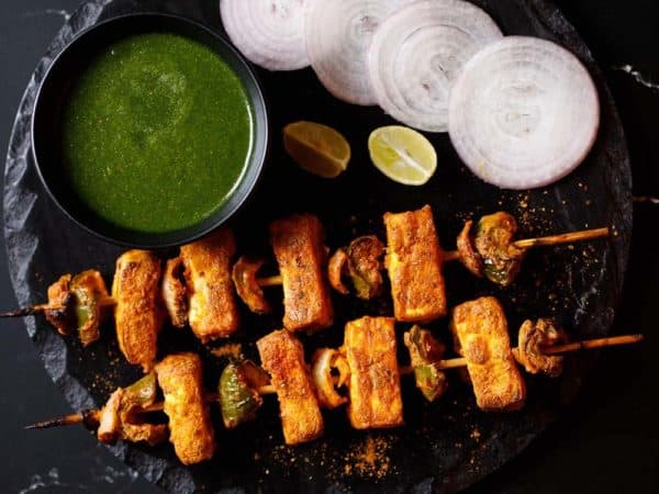 paneer tikka us a fun cocktail snack or vegetarian barbecue dish.