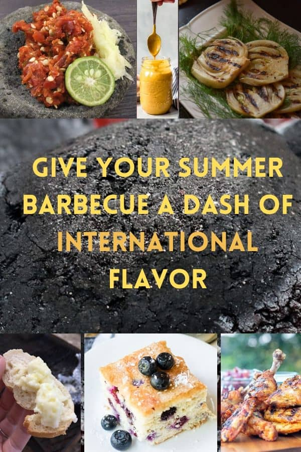29 recipes to give your summer barbecue a new flavor twist. grilled dishes, sides, condiments and desserts from around the world. #summer #barbecue #recipes #ideas #staycation #dessert #chicken #vegetarian