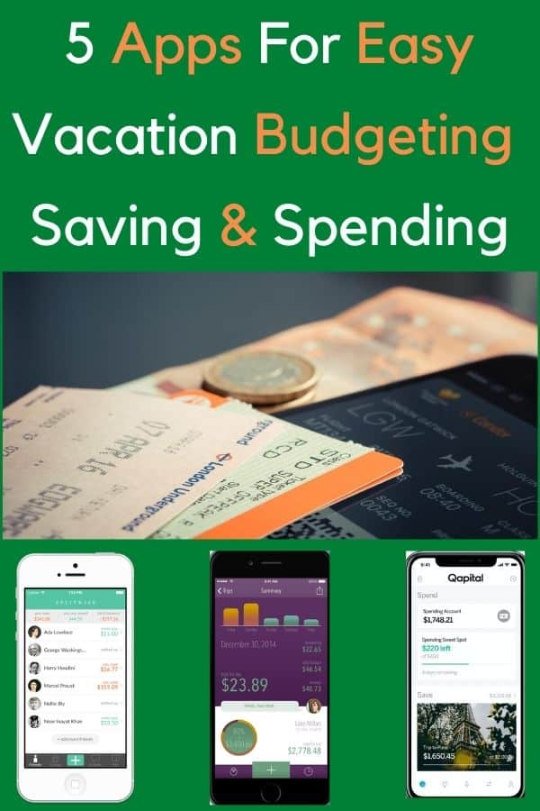 5 apps to help you plan your vacation budget, track spending, share expenses and more. #vacation #spending #budget #expenses #tracker #help #money