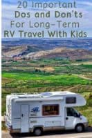Does covid 19 have you contemplating a year of rv travel with your kids? Read these 20 tips for planning, staying in budget and handling, work, school and privacy. #rv #travel #lifestyle #digitalnomad #kids #family #tips