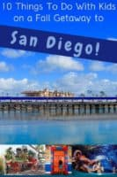 Use these 10 fun activities to plan a family weekend getaway to san diego. Fall means kids-free-month, restaurant week, and great weather for getting outdoors. #sandiego #california #planning #weekend #vacation #kids #thingstodo #kidsfreemonth