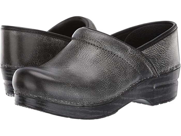 Distressed black dansko professional clogs are a bootlike shoe for the fall.
