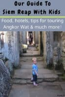 Siem reap is a surprisingly kid-friendly destination. Here's how to explore the angkor temples, what your kids will eat, hotel tips and other things to do on your vacation here. #siemreap #angkorwat #cambodia #kids #vacation #tips #thingstodo #food #hotels #tours
