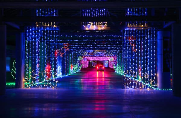 The last vegas speedway lets families drive through a wilderness of holiday lights in november and december.